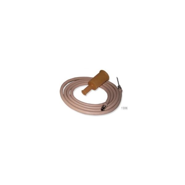 "Simplex IV set gum rubber tubing - 16g x 1 1 / 2"" needle"