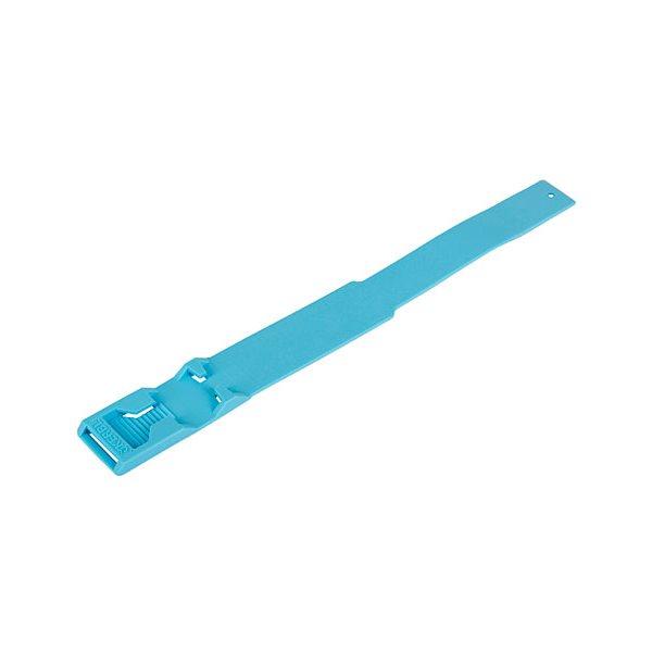 Chevillière plastique Euro vierge, bleue