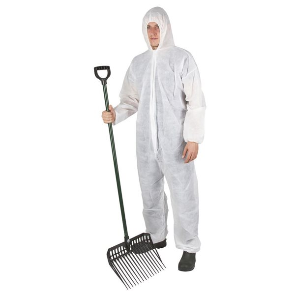 Disposable coverall Basic with cap white