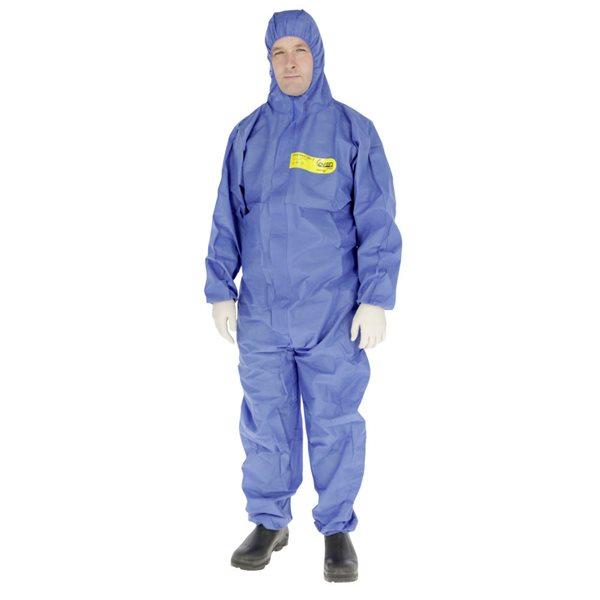 Ensemble protection chimique CoverBase capuchon bleu, L
