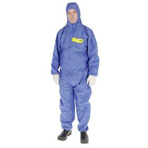 Ensemble protection chimique CoverBase et capuchon bleu, L