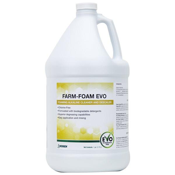 Farm-Foam EVO nettoyant alcalin moussant et détartrant 3.8 L