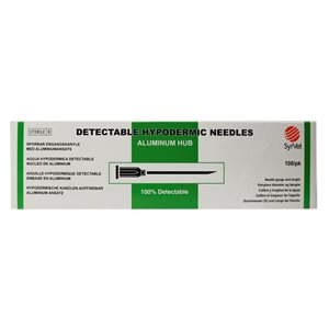 "SyrVet Detectable Needles ""Aluminum hub"""