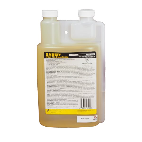 SABER Insecticide liquide Pour-On RTU 900 ml