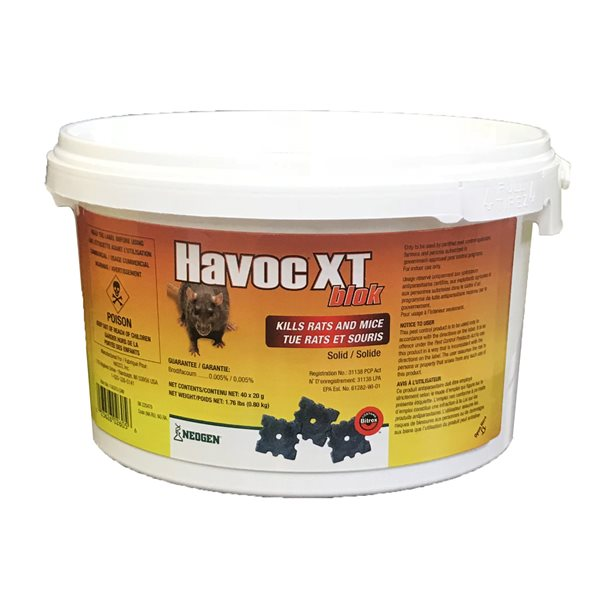 HAVOC-XT Anti-rongeurs Blocs emb / 40 x 20g 800g