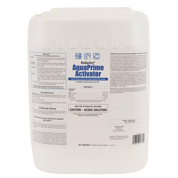 AquaPrime Activateur de dioxyde de chlore 18.9 L
