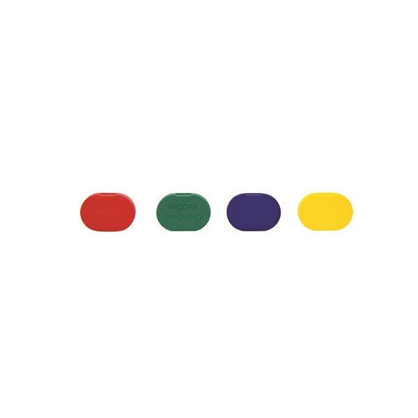 Inserts de bouton Prima-Shot multi-couleur sac / 4