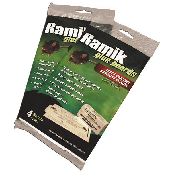 RAMIK Plaque collante pour souris et insectes emb / 4
