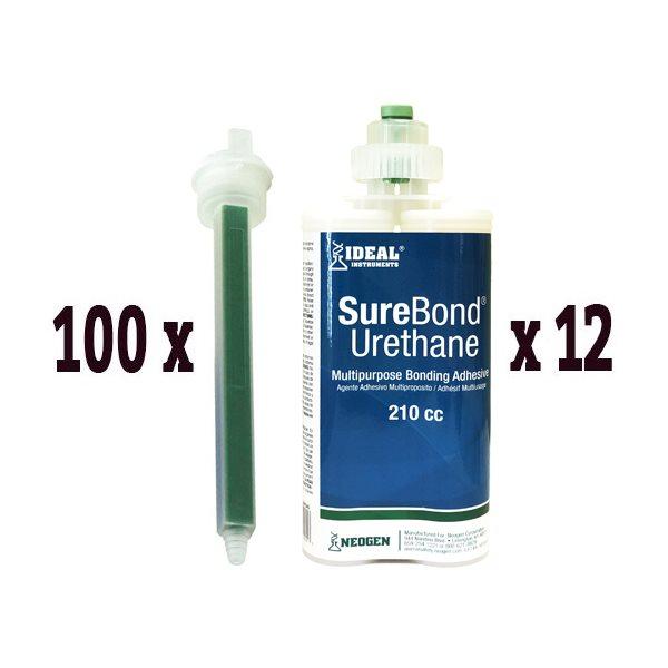 Combo SureBond UR: 12 tubes 210 ml & 100 embouts