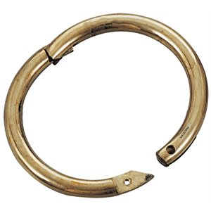 Brass bull ring 3''