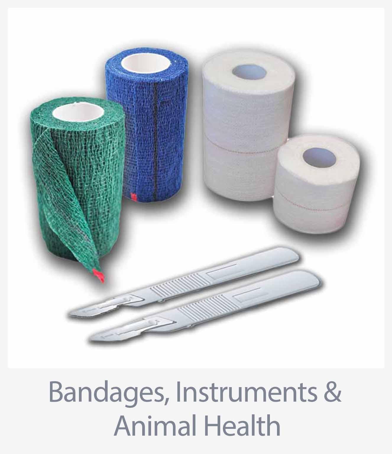 Bandages, Instruments & Animal Health