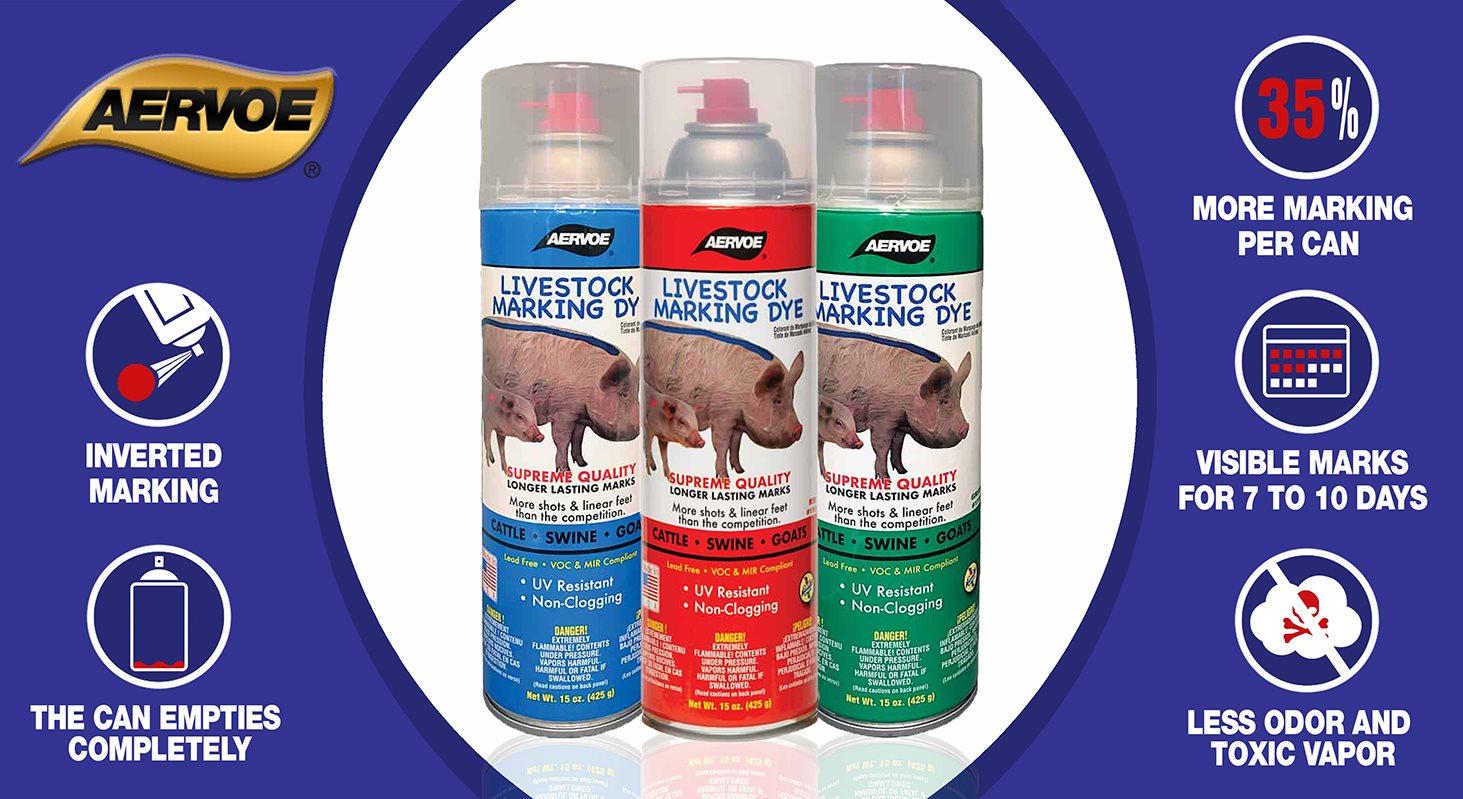 AERVOE livestock marking dye