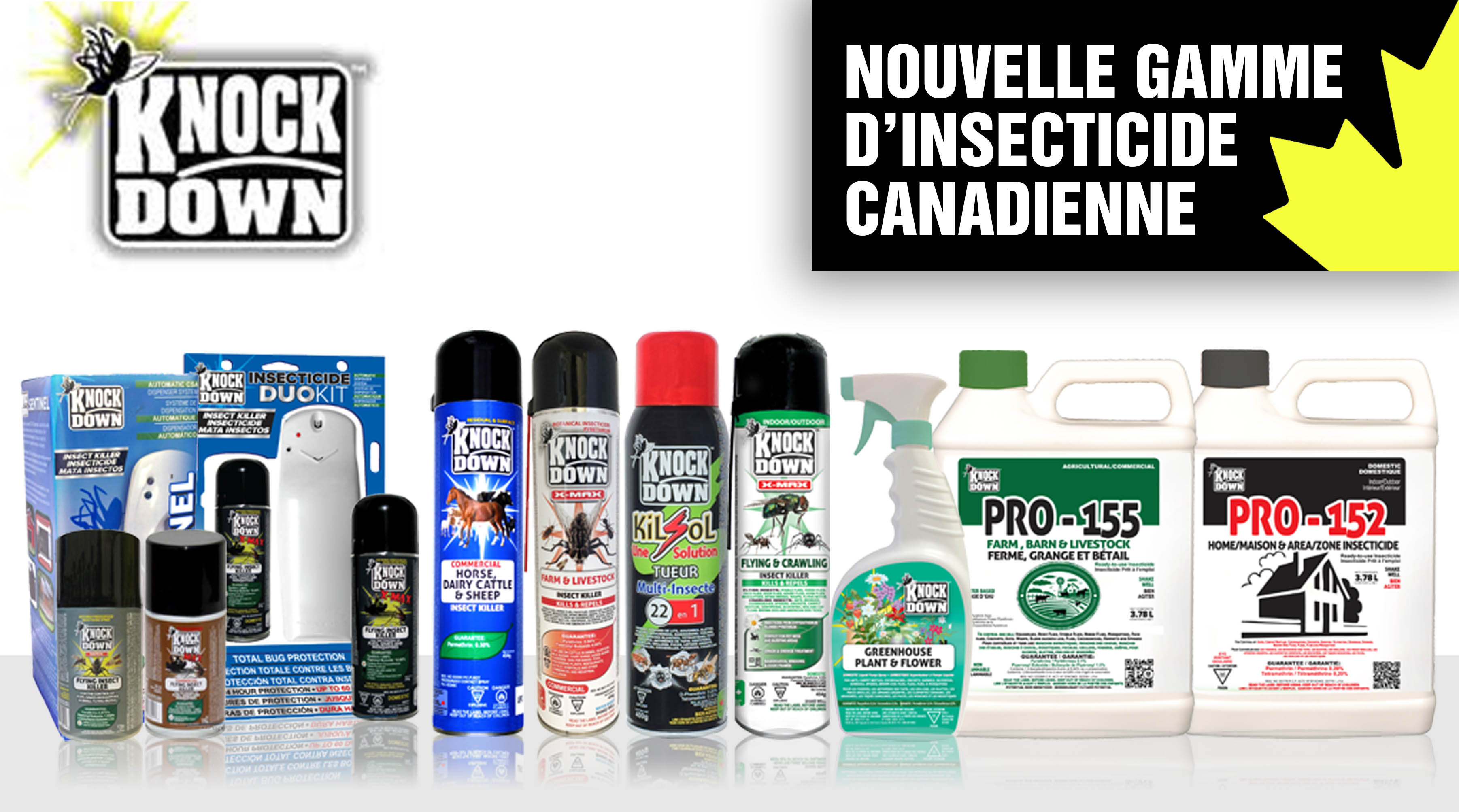 Gamme insecticide Knock Down